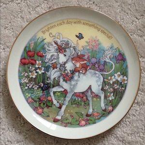 Unicorn Bunny Plate Porcelain Vintage Display 🦄